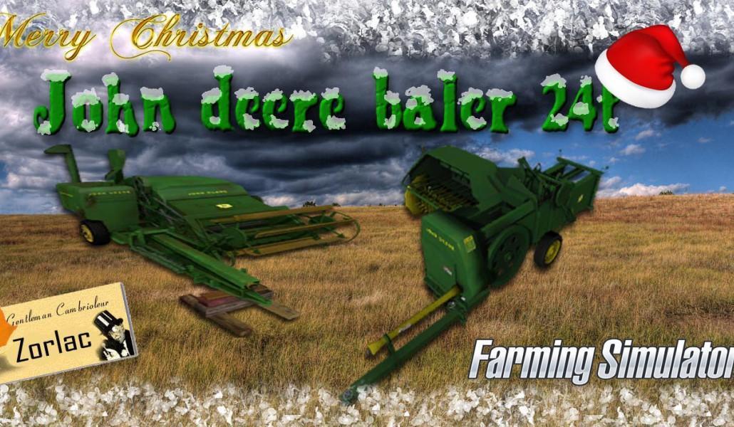 BALER JOHN DEERE 24T BY TFSG FS17 - Mod download