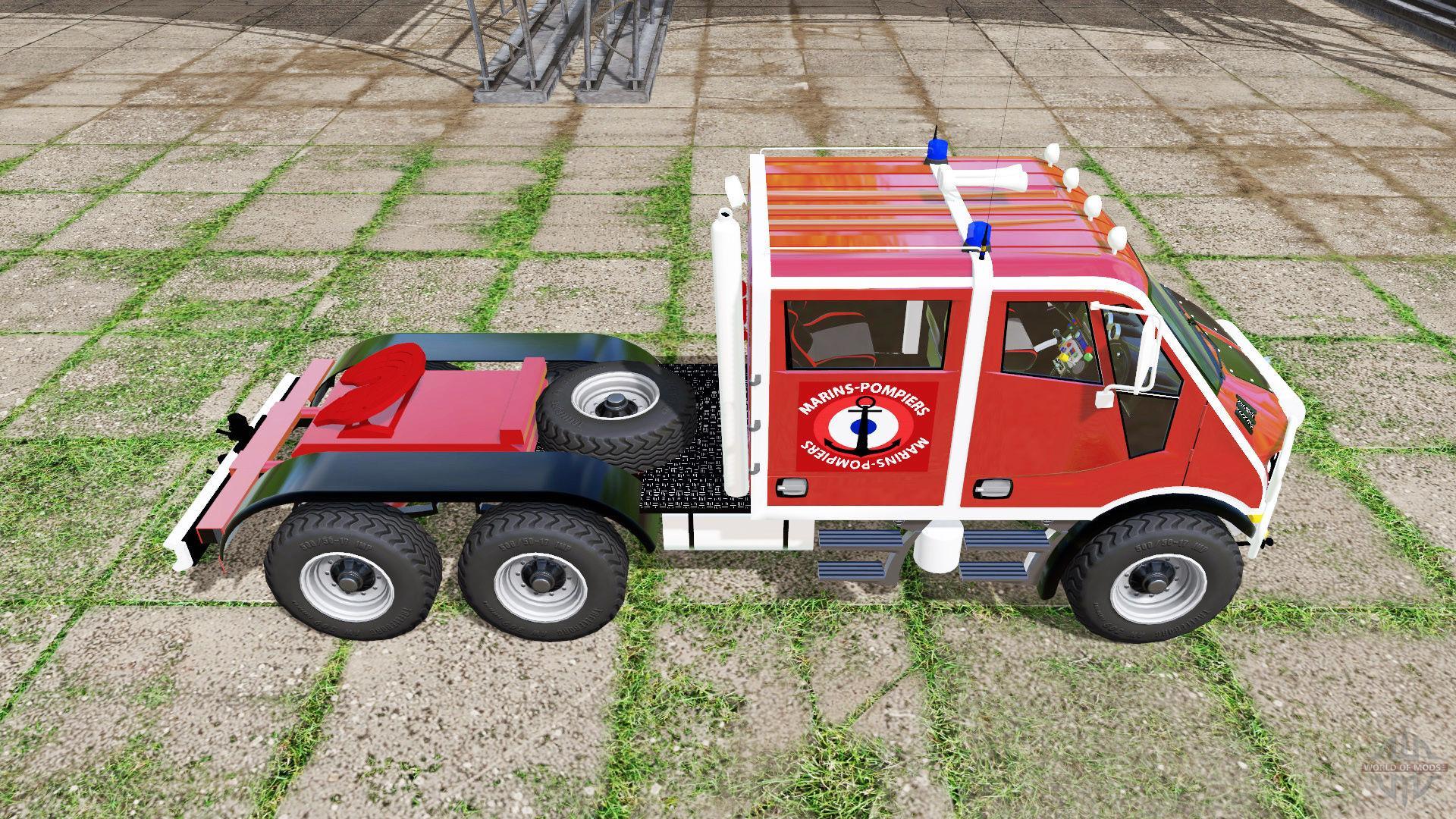 BREMACH T-REX DOUBLE CAB MARINS-POMPIERS V1 0 FS17 - Mod download